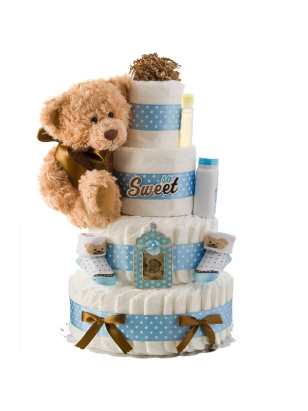 So Sweet Boy 4 Tier Diaper Cake