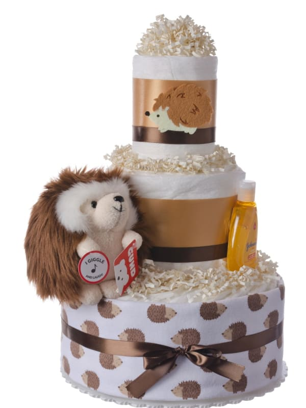 Spunky the Hedgehog Baby Diaper Cake and Book
