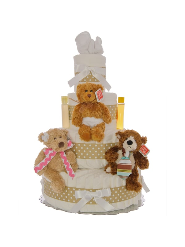 The Three Bears 4 Tier Diaper Cake