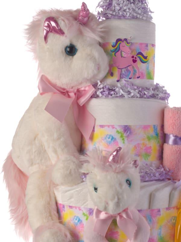 My Lil' Unicorn Diaper Cake for Girls