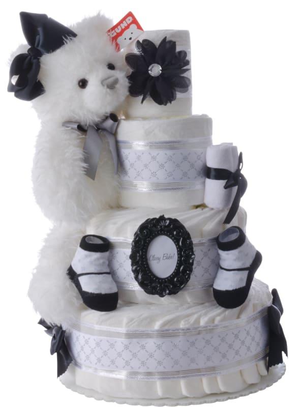Uptown Girl 4 Tier Diaper Cake