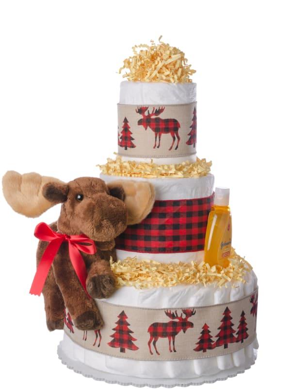Woodland Friend Baby Diaper Cake