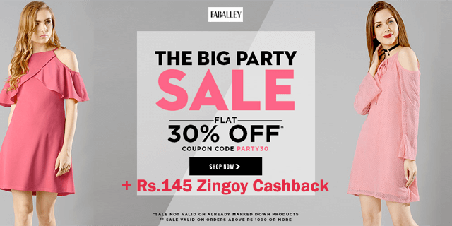 Faballey   flat 30  off party30 pvsttv