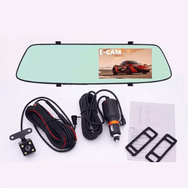 """4.3"""" Touch Screen Mirror Dash Cam 1080P for Cars With Recorder and Night Vision"""