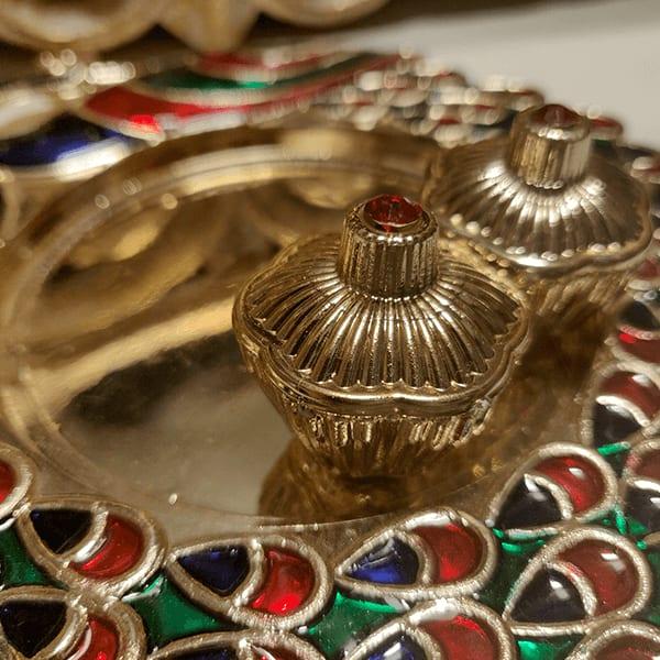 Raksha Bandhan Special- Designer Puja Thali With Rakhi