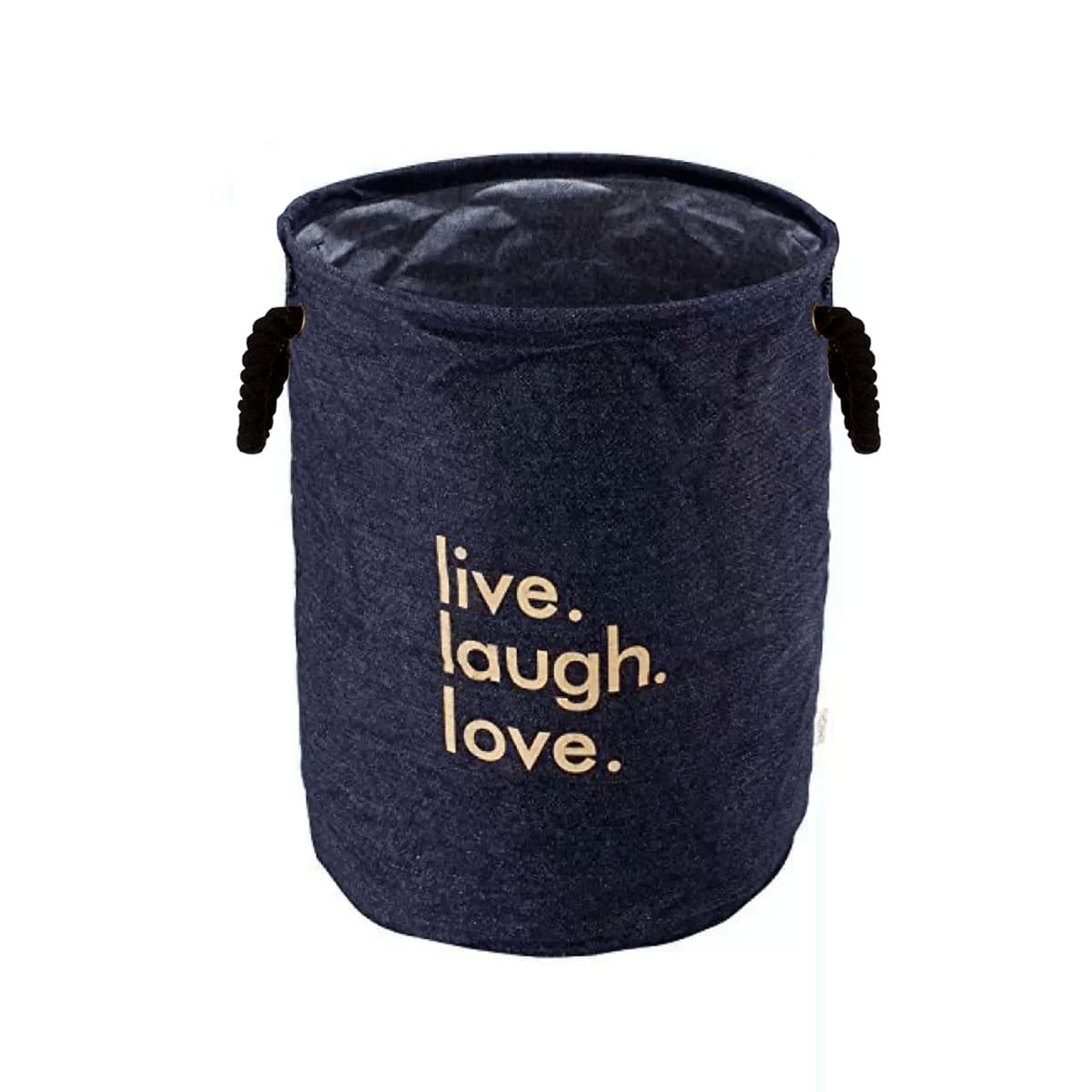 Multipurpose Round Shape Foldable Open Laundry Bag(Navy Blue)