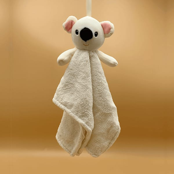 Plush Teddy Bear Hanging Soft Hand Towel Set Of 2 (Assorted Colors)