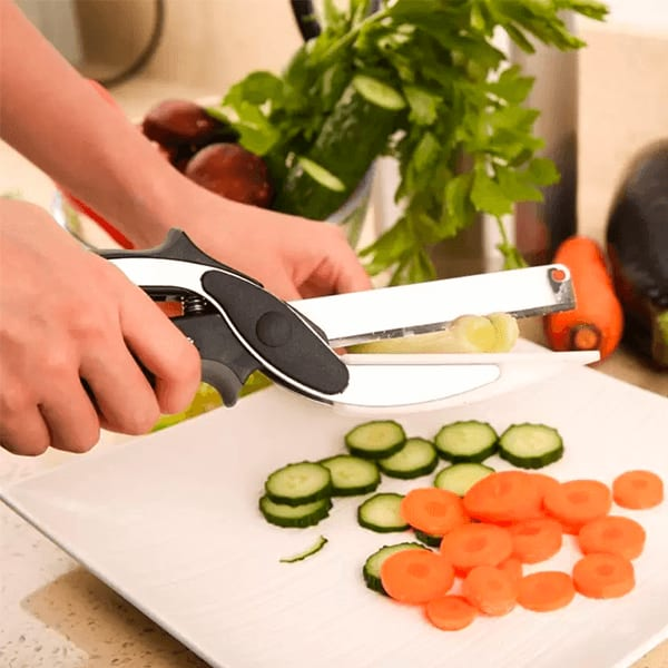 Clever Cutter 2-in-1 Stainless Steel Vegetable Scissor