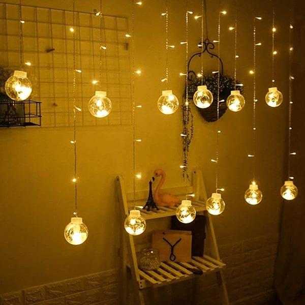 Indoor Outdoor String Lights Window Curtain Lights