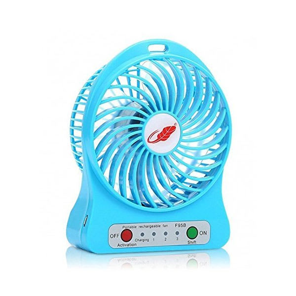 Mini portable usb rechargeable 3 speed fan slider ajqgdl
