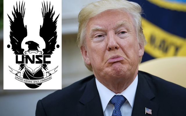 "Trump Administration Caught Up In Copyright Lawsuit After Trying To Use Halo's ""UNSC"" Logo For US Space Force"
