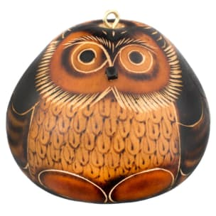 CDAH005 Owl Gourd Ornament