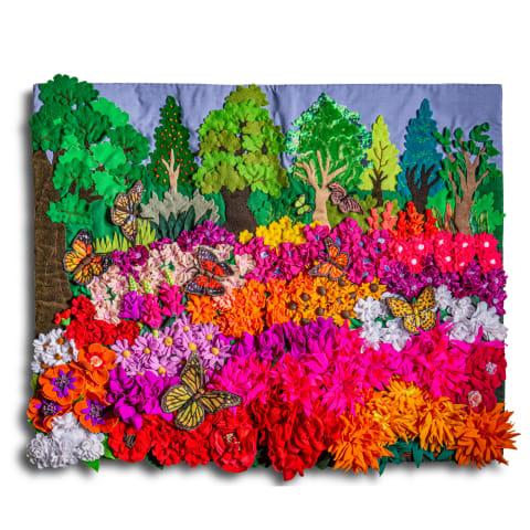 Colorful Flower Field by Lucuma Designs