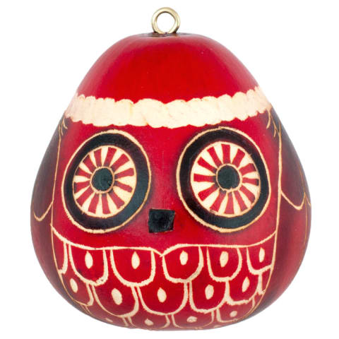 CRG224P Red Christmas Owl