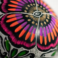 Spring Butterflies - gourd art - small
