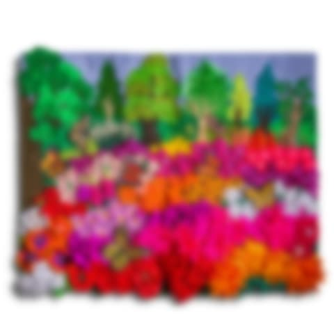 Colorful Flower Field by Lucuma Designs