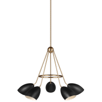 Summer Five Light Chandelier Midnight Black Bulbs Inc