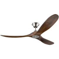 Maverick 60 - w Dark Walnut Blades Brushed Steel