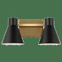 Towner Two Light Wall / Bath Satin Brass Bulbs Inc