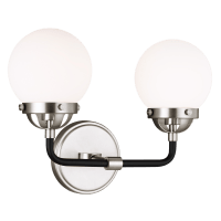Cafe Two Light Wall / Bath Brushed Nickel