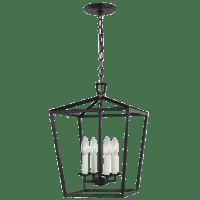 Dianna Four Light Small Lantern Midnight Black Bulbs Inc