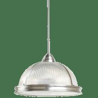 Pratt Street Prismatic Three Light Pendant Brushed Nickel Bulbs Inc