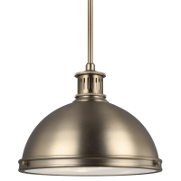 Pratt Street Metal Two Light Pendant Satin Brass Bulbs Inc