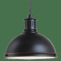Pratt Street Metal Large LED Pendant Autumn Bronze Bulbs Inc