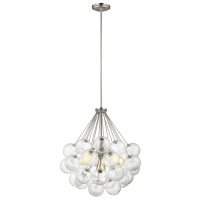 Bronzeville Three Light Pendant Brushed Nickel