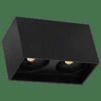 "Exo 6 Dual Flush Mount 6.1"" Matte Black Black 2700K LED 90 CRI 120v 277v UNV 40"
