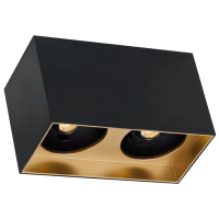 "Exo 6 Dual Flush Mount 6.1"" Matte Black Gold Haze 2700K LED 90 CRI 120v 277v UNV 40"