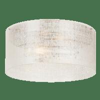 Vetra Flush Linen Satin Nickel No Lamp