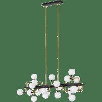 Viaggio Linear Chandelier Opal/Brass no lamp