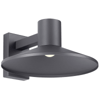 Ash 16 Outdoor Wall Charcoal Dome 2700K 90 CRI High Output, Surge Protection