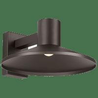 Ash 16 Outdoor Wall Bronze Dome 3000K 90 CRI High Output, Button Photocontrol