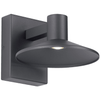 Ash 8 Outdoor Wall Charcoal Dome 3000K 90 CRI 3000K High Output, Button Photocontrol