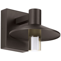 Ash 8 Outdoor Wall Bronze Cylinder 2700K 90 CRI 2700K Low Output, Surge Protection