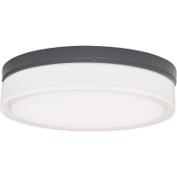 Cirque Large Outdoor Wall/Flush Mount Large Charcoal 3000K INC