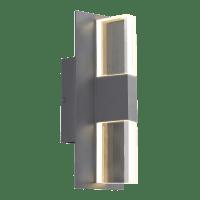 Lyft 12 Outdoor Wall Charcoal Clear 2700K 80 CRI