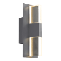 Lyft 12 Outdoor Wall Charcoal Clear 2700K 80 CRI In-Line Fuse