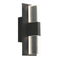 Lyft 12 Outdoor Wall Black Clear 3000K 80 CRI Surge Protection