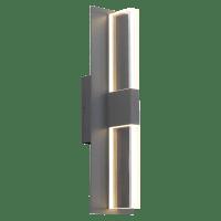 Lyft 18 Outdoor Wall Charcoal Clear 3000K 80 CRI