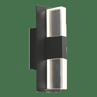 Lyft 12 Outdoor Wall Black Clear 4000K 80 CRI In-Line Fuse