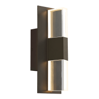 Lyft 12 Outdoor Wall Bronze Clear 4000K 80 CRI Surge Protection