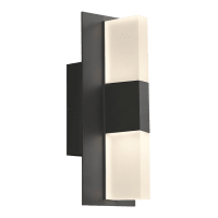 Lyft 12 Outdoor Wall Black Diffuser 4000K 80 CRI In-Line Fuse