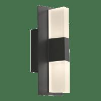 Lyft 12 Outdoor Wall Black Diffuser 4000K 80 CRI Surge Protection