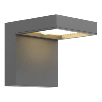 Taag 10 Outdoor Wall Charcoal 3000K 80 CRI, In-Line Fuse