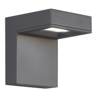 Taag 6 Outdoor Wall Charcoal 4000K 80 CRI, In-Line Fuse