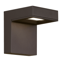 Taag 6 Outdoor Wall Bronze 4000K 80 CRI, Button Photocontrol, Surge Protection