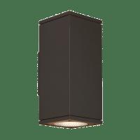 Tegel 12 Outdoor Wall Black 2700K 80 CRI, Button Photocontrol, Uplight & Downlight WWC